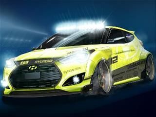Here S An Early Look At Another Fantasy Flyer Being Readied For The Upcoming Sema Show In November A Co Creation Hyundai Veloster Veloster Turbo Hyundai Cars