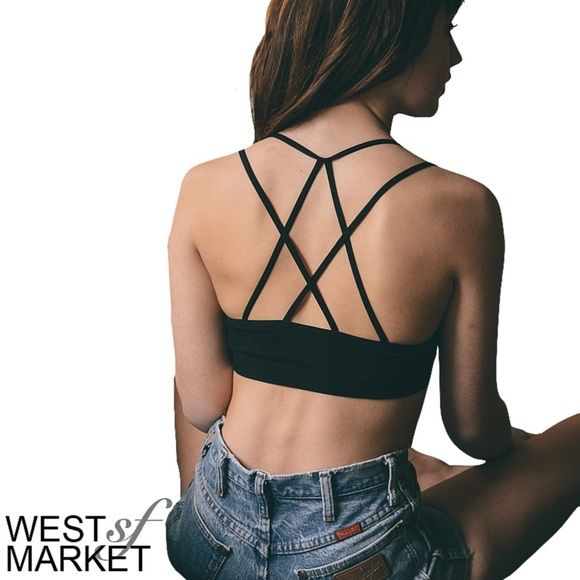 051b8f25ce -RESTOCKED-🎉 Criss-Cross Bralette Seamless Bralette with cross-cross  detail in the front and back! Wear it under your favorite tank for an insta- chic look.