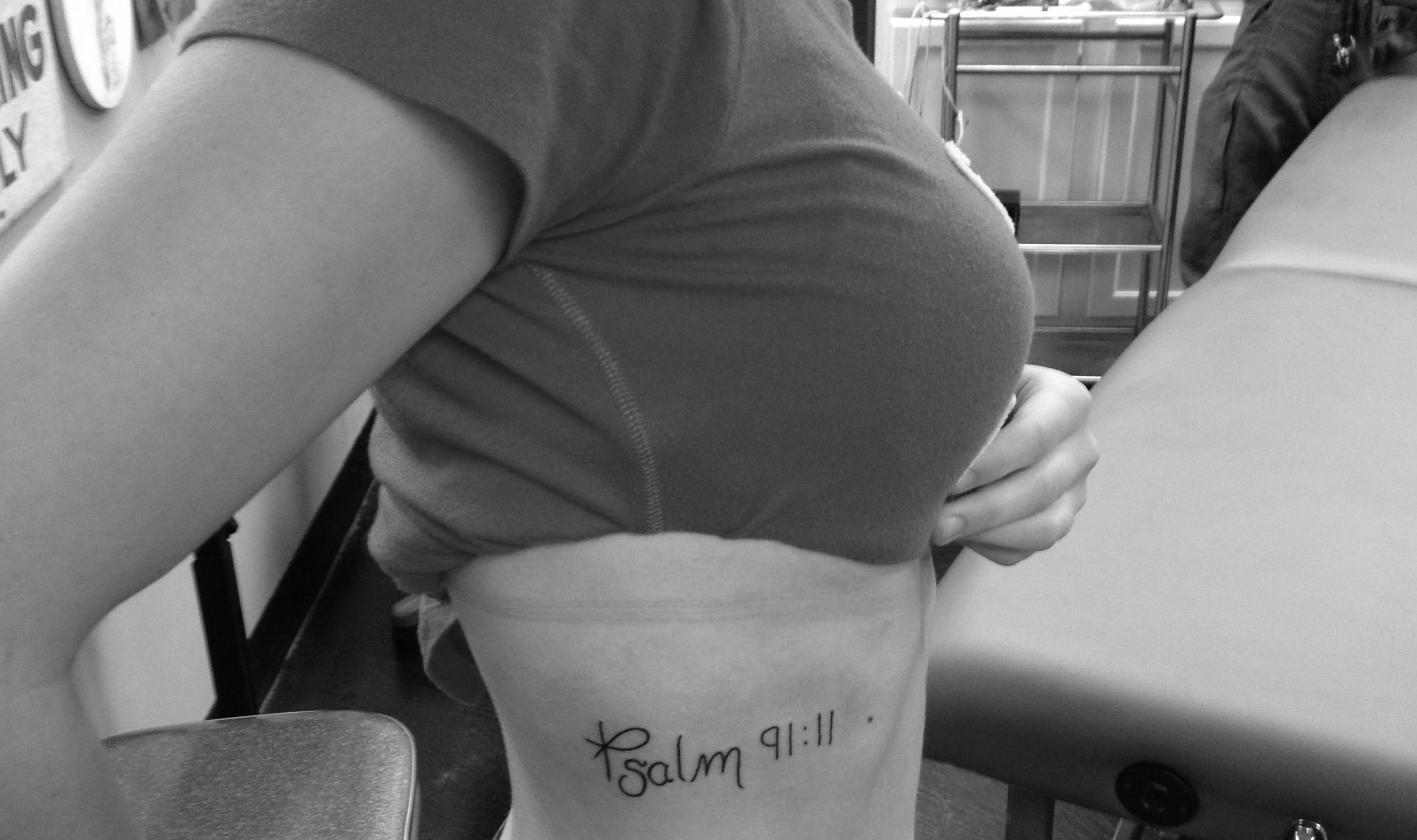 """Psalm 91 Tattoo Designs For Men: Psalm 91:11 """"For He Orders His Angels To Protect You"""