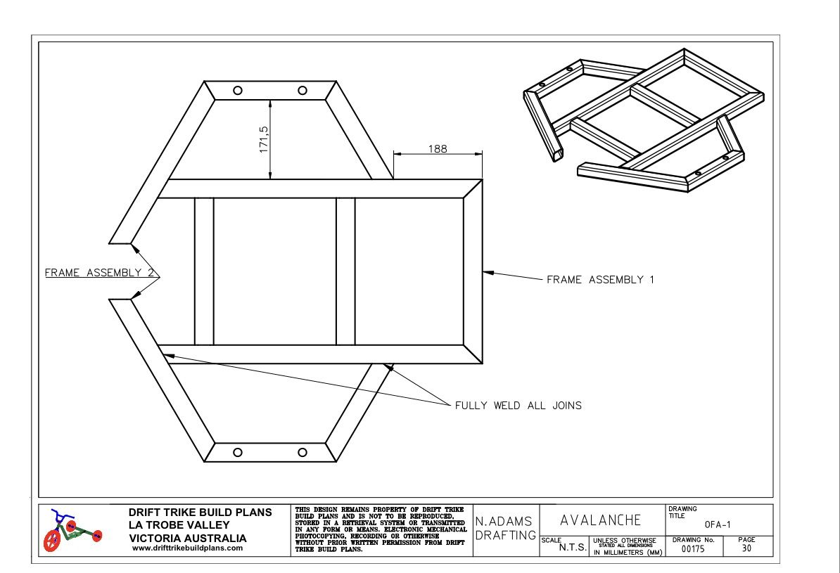 Drift trike plan frame projects to try pinterest for Frame plan