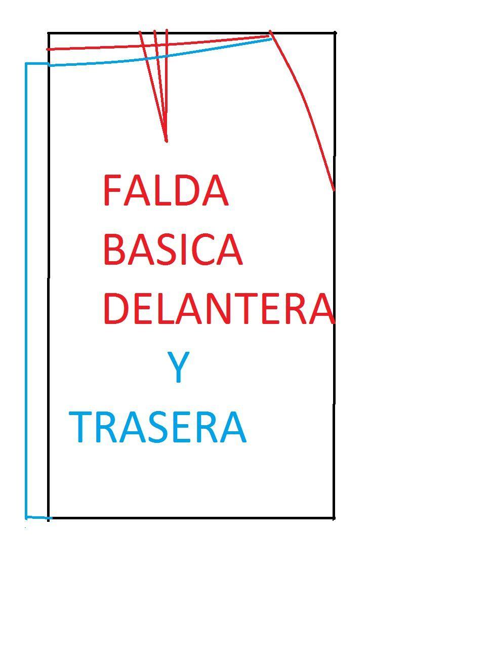 7a710cf61 TRAZOS BASICOS DE LA FALDA (DELANTERO Y TRASERO) | COSER - patrones ...
