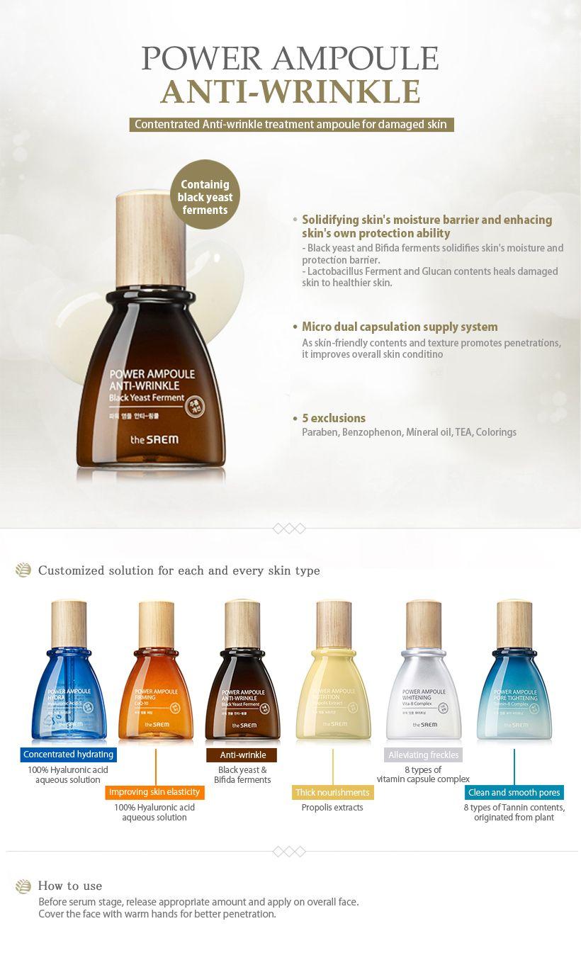The Saem Power Ampoule Anti Wrinkle 40ml The Saem Beautynetkorea Korean Cosmetic Healthy Skin Cream Anti Aging Skin Products Diy Anti Aging