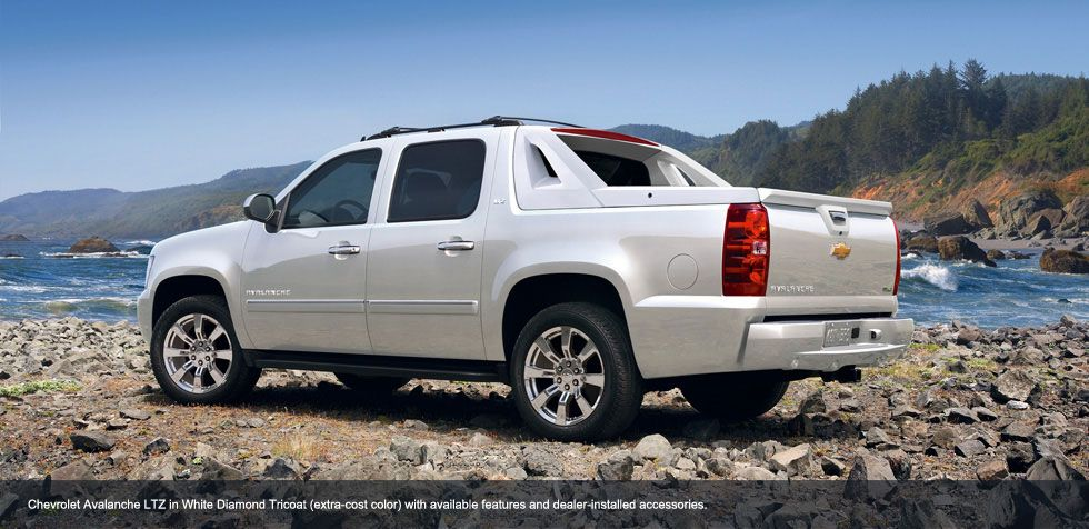 Chevrolet Avalanche Ltz In White Diamond Tricoat Extra Cost Color