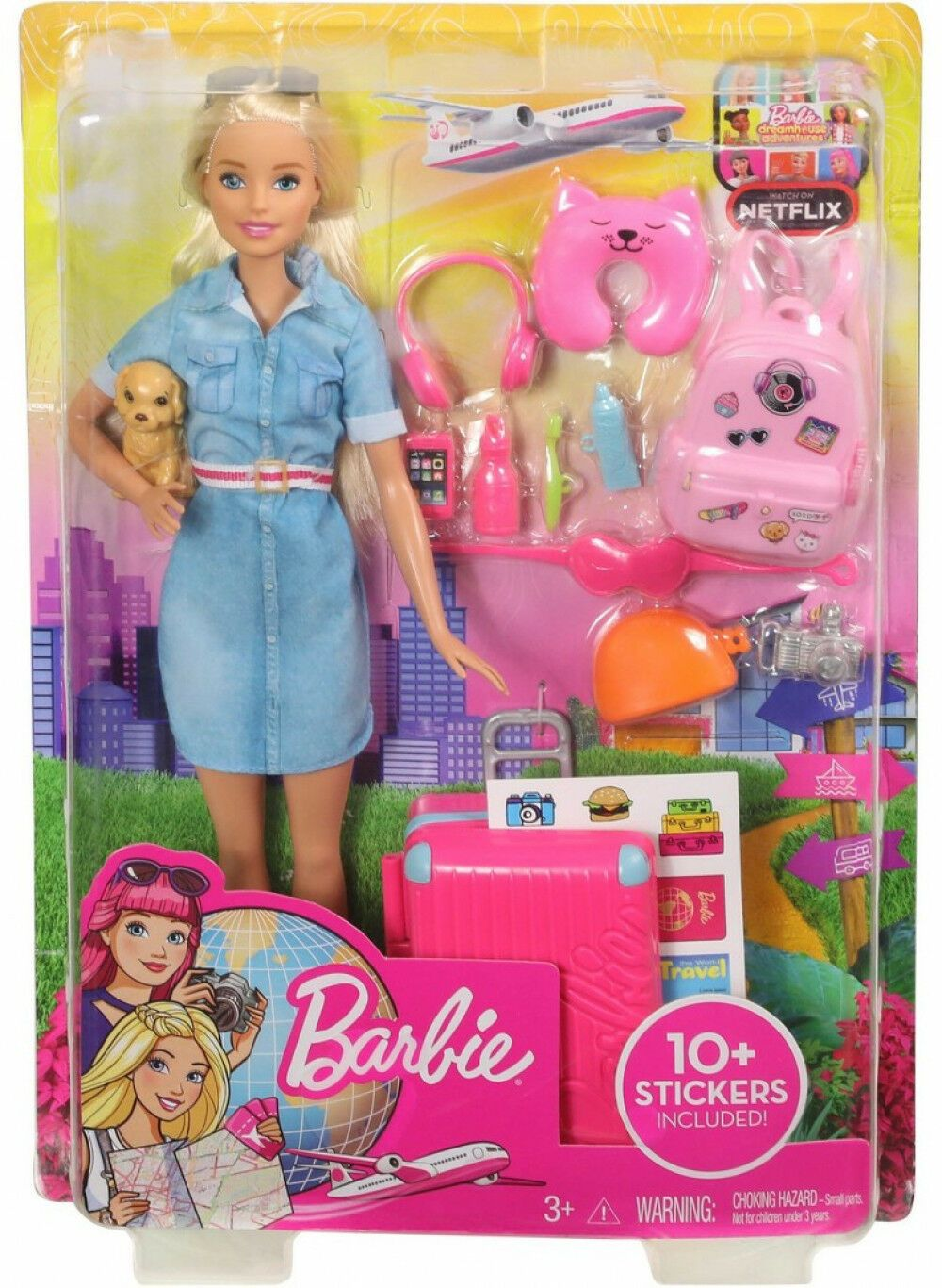 Barbie Travel Doll And Puppy Playset Kid Girl Toy Gift 887961683820 Ebay Barbie Playsets Barbie Dolls Barbie Doll Set