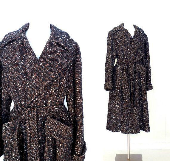 1940s Wool Coat / Vintage 40s Coat / Nubby by SmallEarthVintage, $120.00