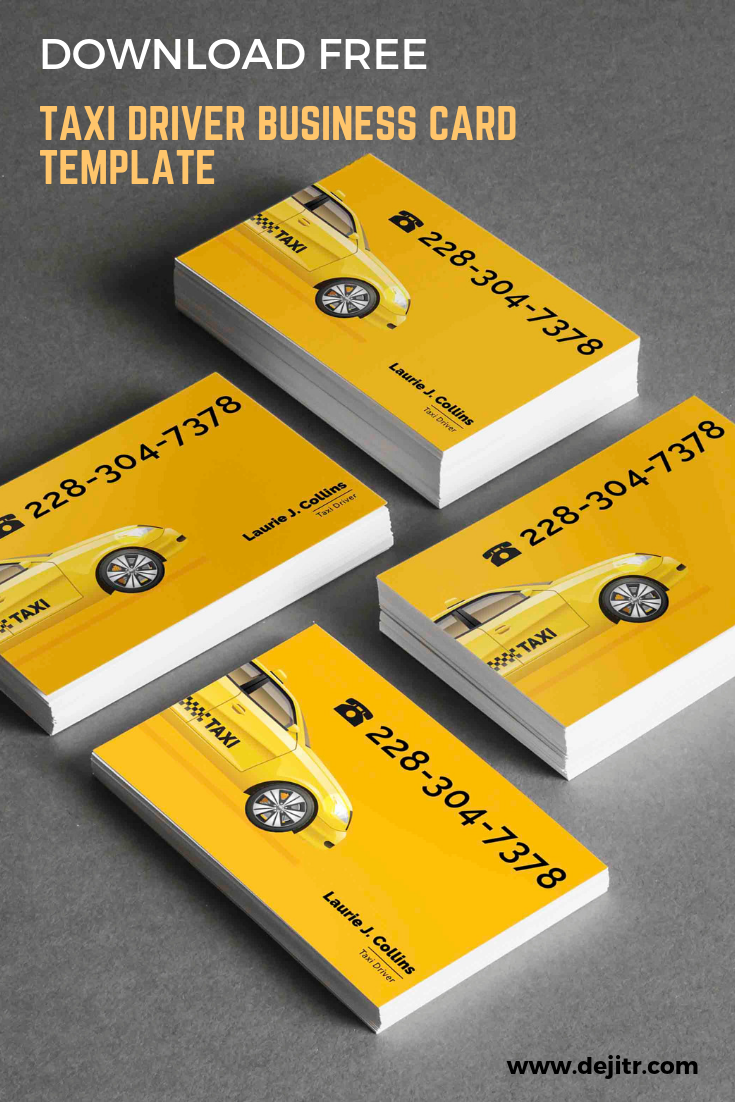 Download Free Taxi Driver Business Card Template