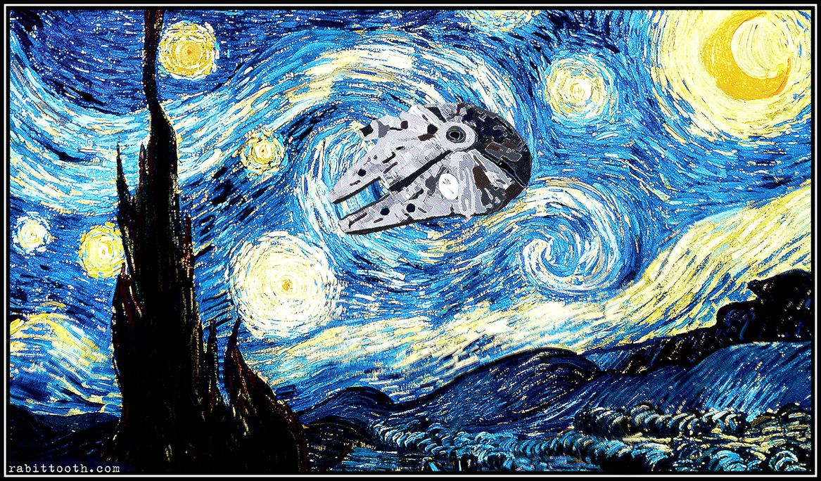 Starry Night With Millennium Falcon By Rabittooth On Deviantart