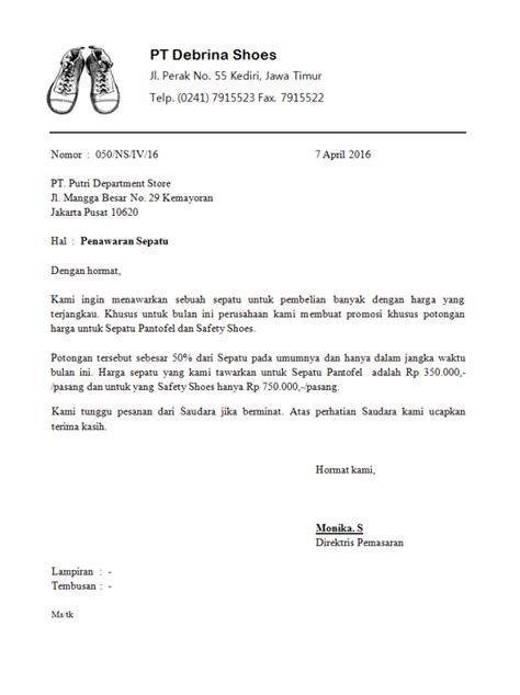 contoh surat kerjasama usaha makanan contoh surat