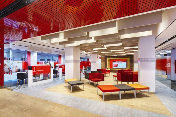 Santander unveils branch of the future - Retail Focus - Retail Interior Design and Visual Merchandising