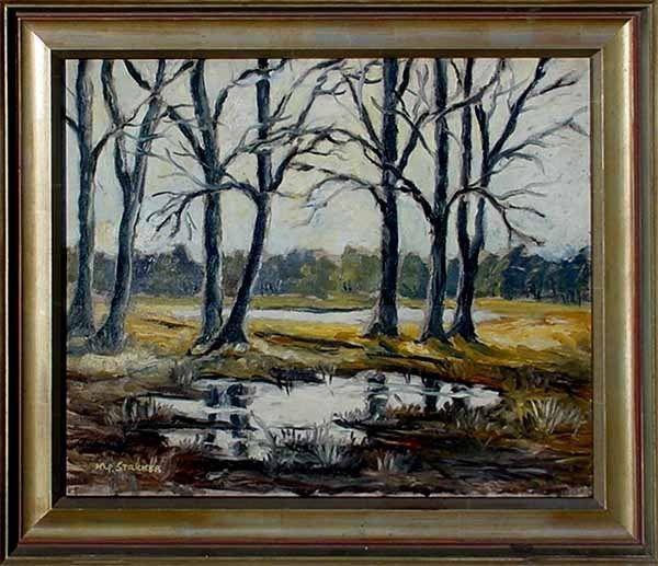 Maler Mönchengladbach akad maler c h stricker 1926 2002 nierslandschaft bei