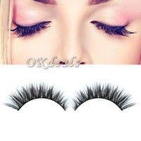 4242f1ef050 Cute | Fashion Women Makeup Handmade 100% Mink Hair Long Eye Lashes False  Eyelashes dhr #EyeLashesFalse