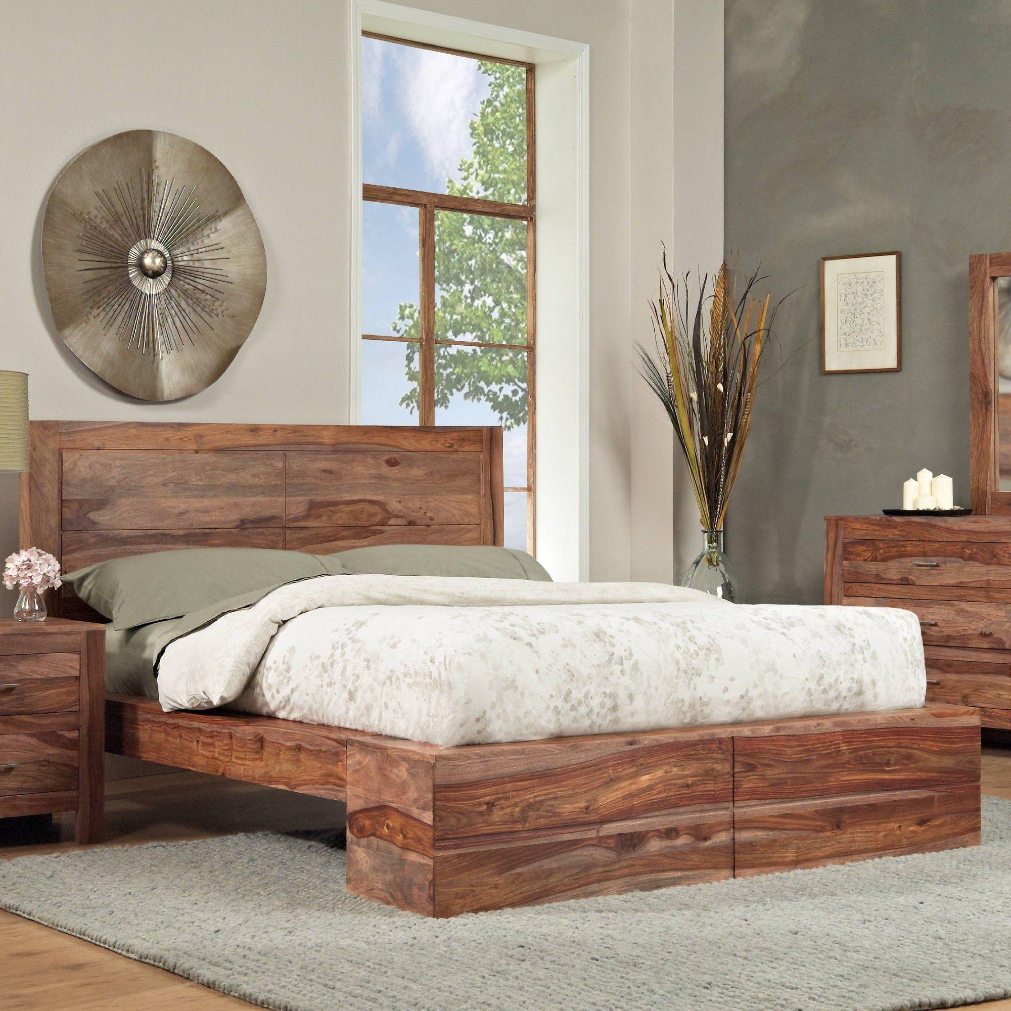 Mandy Wood Standard 5 Piece Bedroom Set Wood bedroom