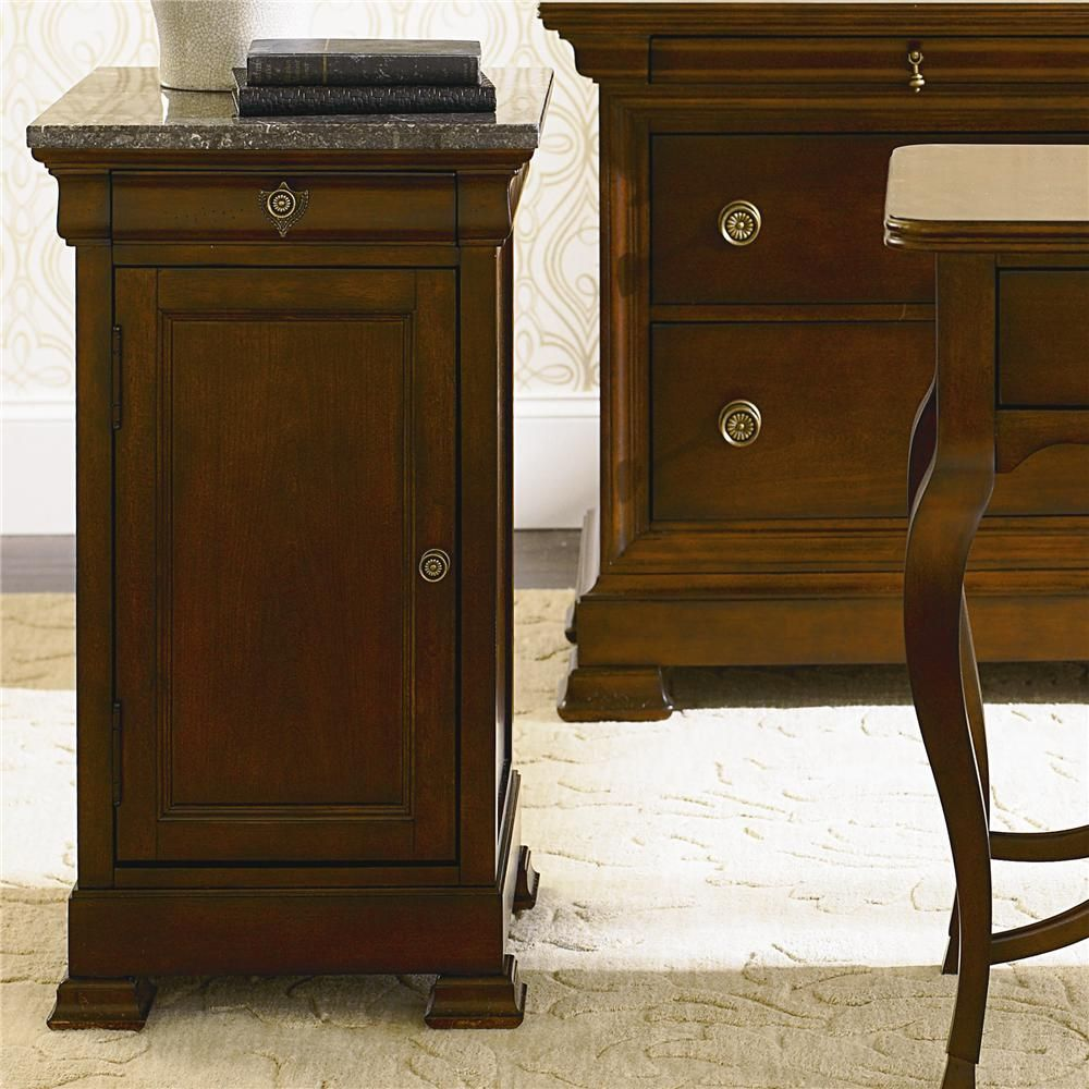 marble top bedroom furniture%0A Shop for the Bassett LouisPhilippe Bedside Cabinet w  Marble Top at AHFA   Your Furniture  u     Mattress Store