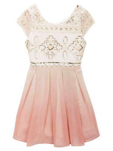 7662b24b5ead Show product details for Tween Blush Aztec Sequin DressNow in Stock (16)  Easter Dresses