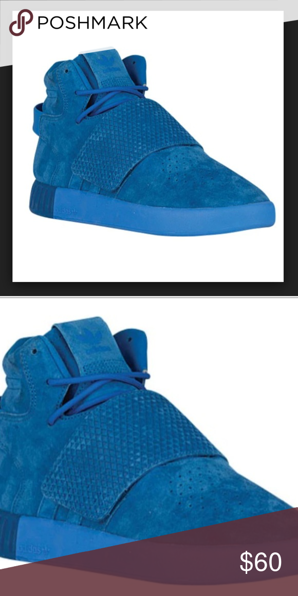 8bd4fbf97437 New Sz 12 Adidas Tubular Invader Strap Blue New Sz 12 Adidas Tubular  Invader Strap Blue