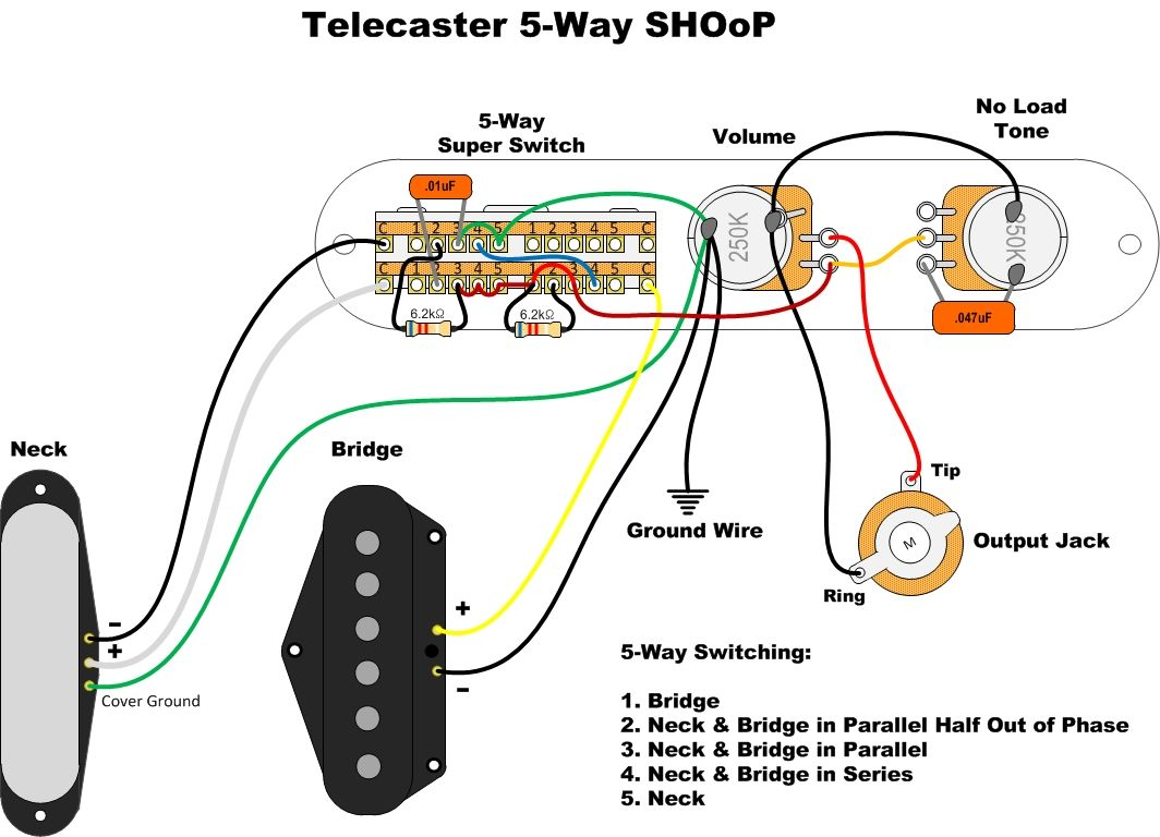 Tele 5 Way Wiring The Gear Page - Wiring Diagram Go Nashville Power Telecaster Wiring Diagram on telecaster pickup wiring diagram, telecaster texas special wiring diagram, fender tele 4-way diagram, fender telecaster 4-way switch wiring diagram, doorbell installation diagram,