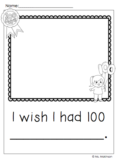 100th Day Of School Writing Prompts Freebie 100 Day Of School Project 100 Days Of School 100th Day