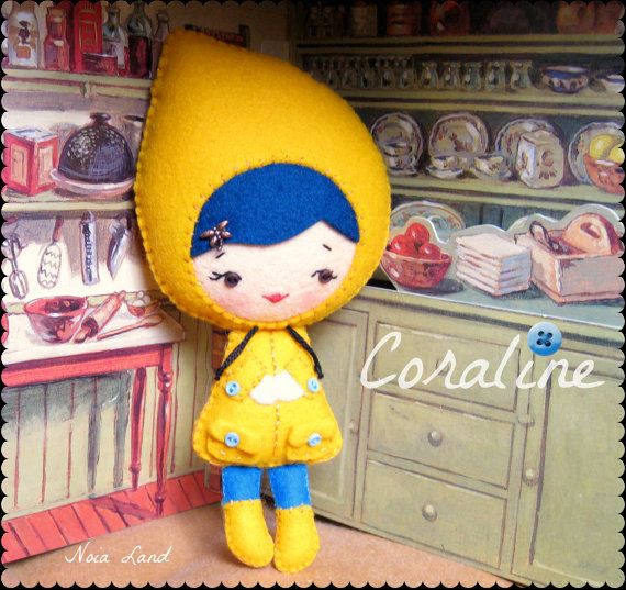 PDF. Coraline doll .Plush Doll Pattern, Softie Pattern, Soft felt ...