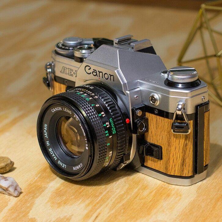 Beautiful Custom Wood Film Camera Canon Ae 1 With Golden Oak Wants