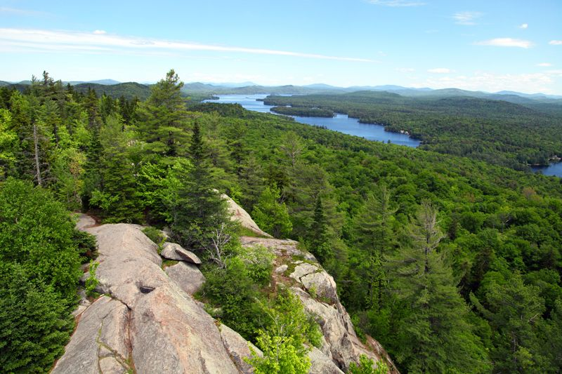 Spring view from top of Bald Mountain, just north of Old Forge, NY
