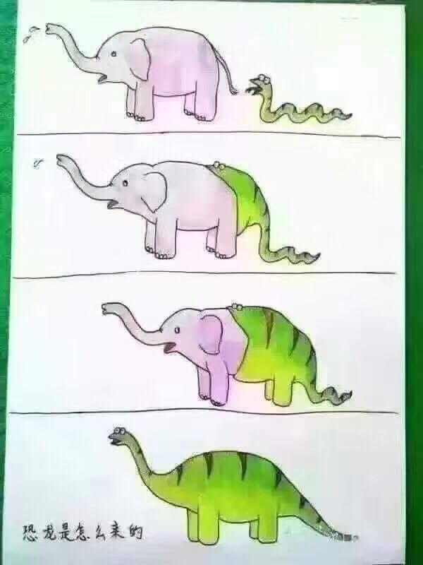 Serpiente comiendo Elefante = Diplodocus