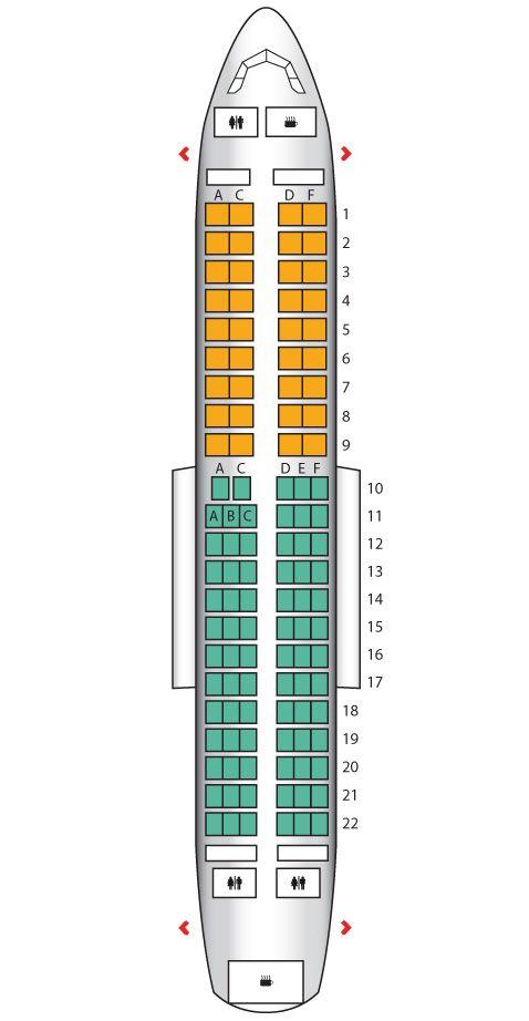 Airbus 319 Seating Chart