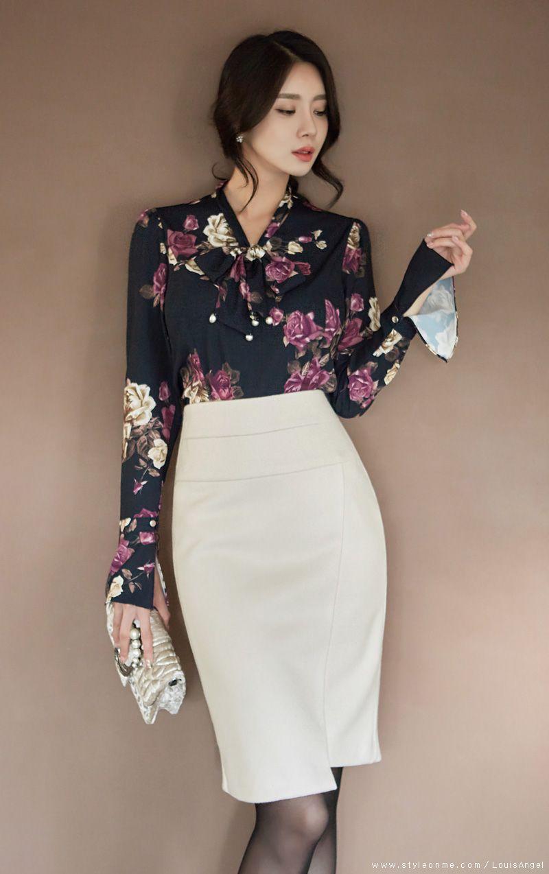 8cc91d9dc Asymmetrical Hem High-Waisted Wool Pencil Skirt