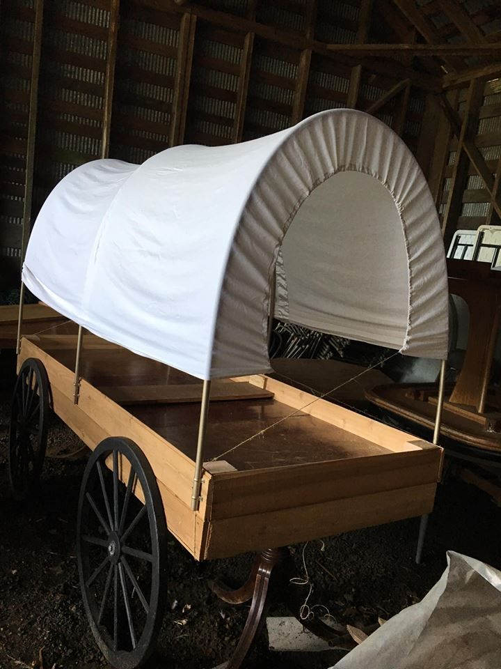 Wedding Buffet Chuck Wagon Old Well Used Table Rescued From
