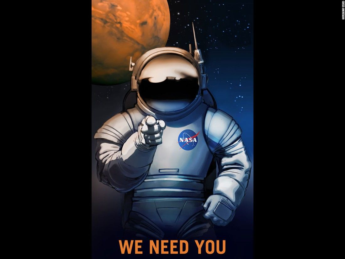 NASA originally commissioned these recruitment posters for