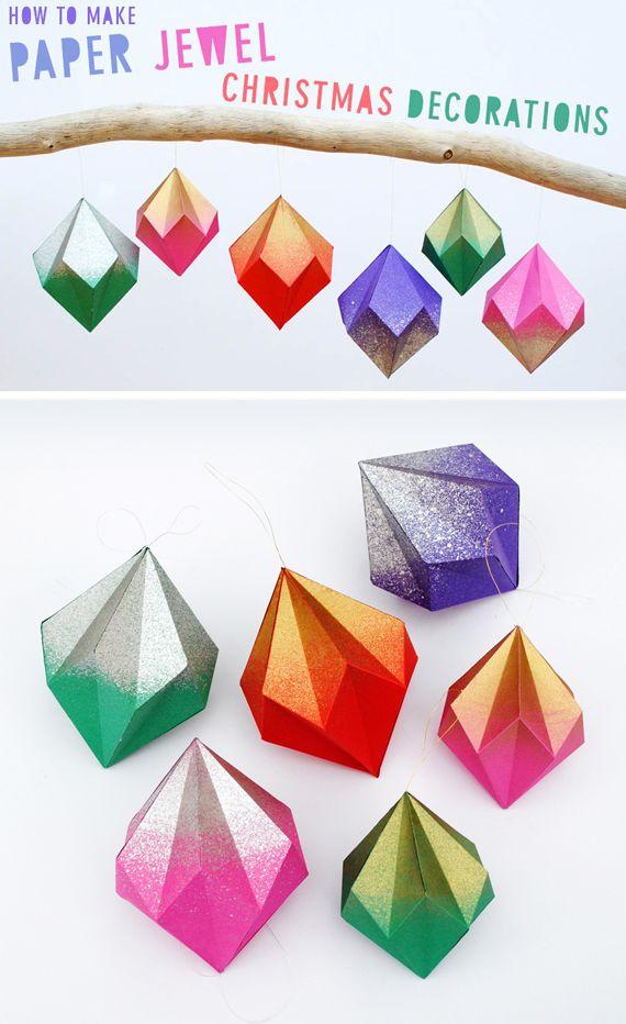 Papier Juwel für Schnitzeljagd | weihnachtsdeko | Pinterest ...