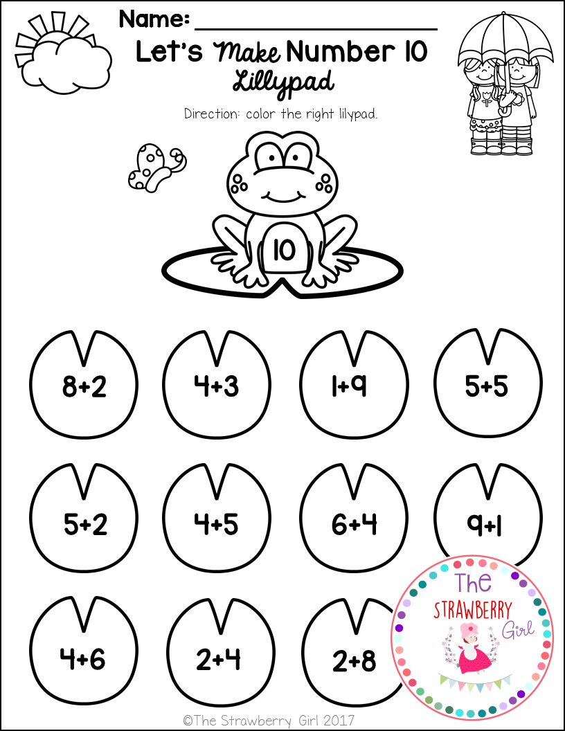 The Spring Math Worksheets Packet Is Filled With Fun And Adorable Math Wo Kindergarten Math Worksheets Kindergarten Math Free Kindergarten Math Worksheets Free