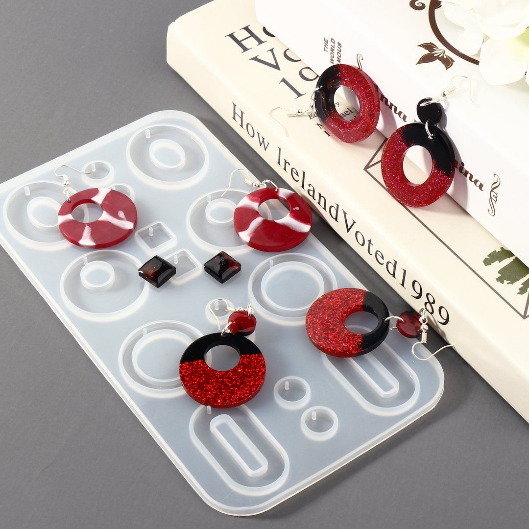 Photo of 3PCS Earring Epoxy Resin Molds Fashion Jewelry Bohemian Drop Dangle Resin Earring Silicone Molds