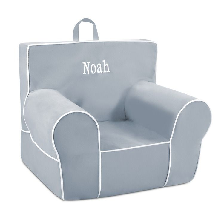 Now Add A Child S Name Or Initials To Your Choice Of Grab N Go Classic Chair Many Thread Colors And Fonts To Choose From Classic Chair Kids Chairs Gifts