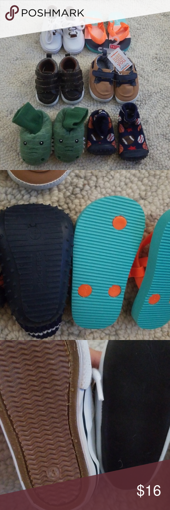 Baby slippers, sandals, shoes size 3/ 4