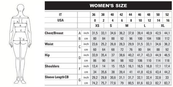 Women   size and measurement chart google search also the knitting rh pinterest