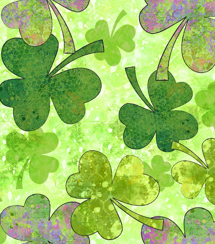 Green Shades Of Clover Susan Winget St Patrick S Day Fabric Joann St Patricks Day Wallpaper St Patrick S Day Crafts Shades Of Green