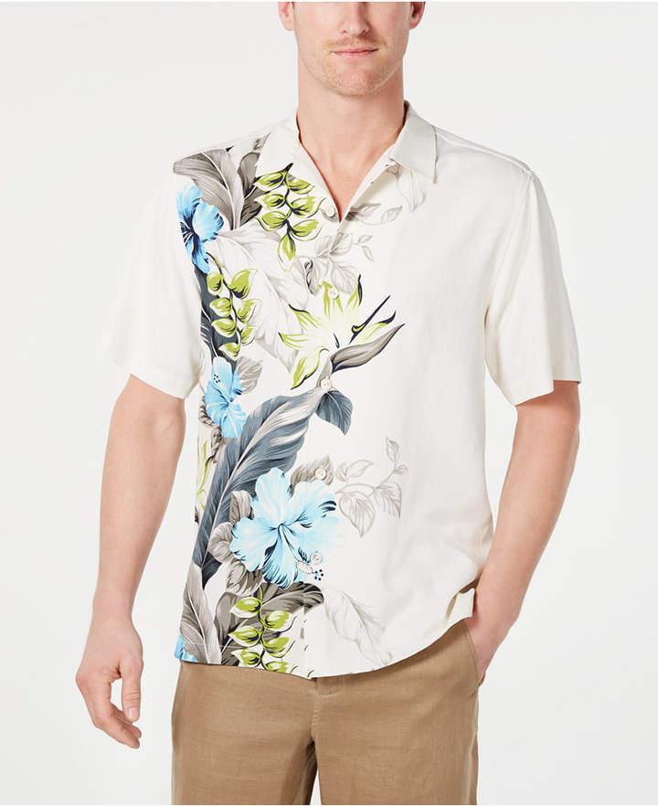 b039e840 Tommy Bahama Men Big & Tall Garden of Hope & Courage Silk Hawaiian Shirt