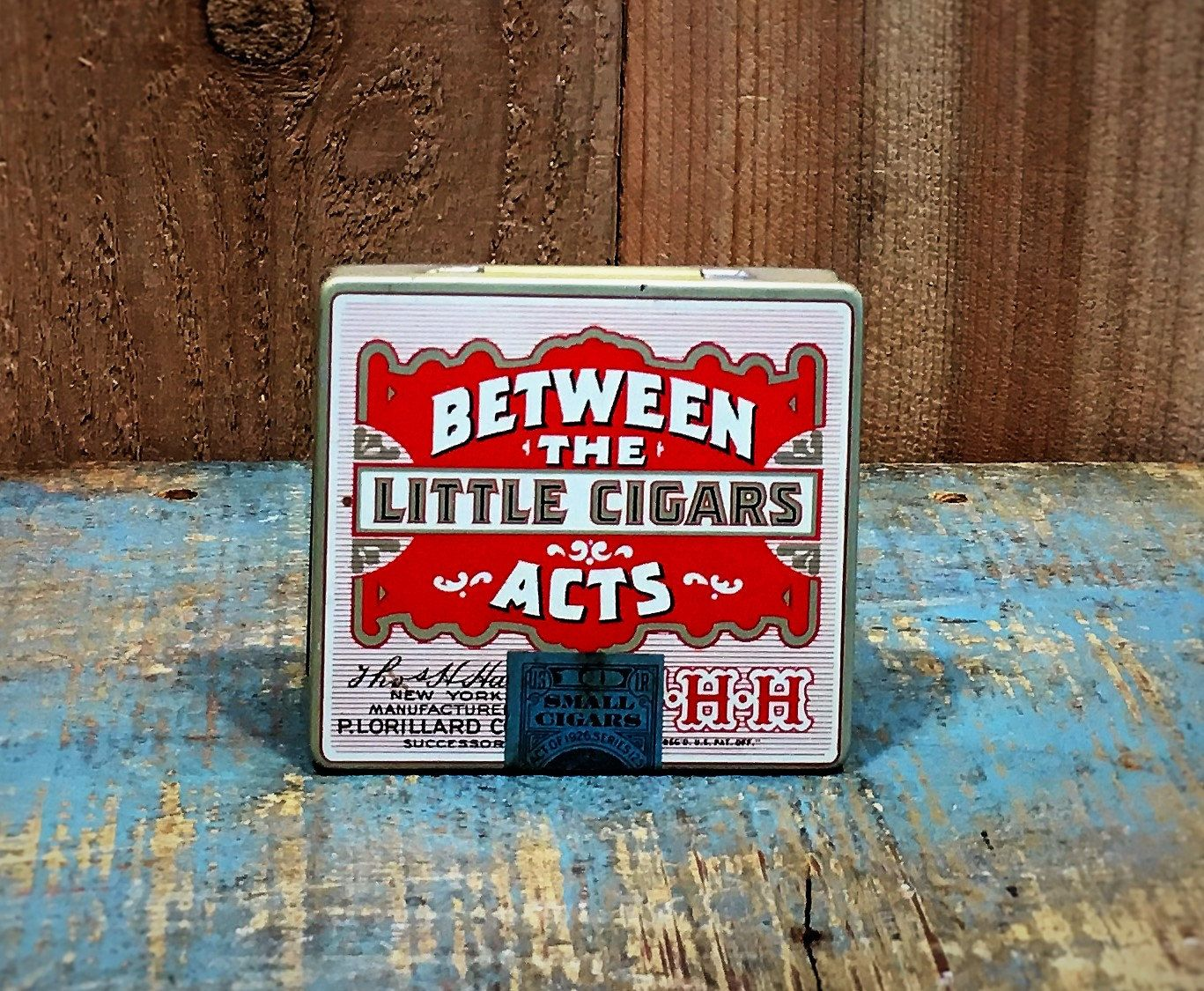 Vintage Between The Acts Mini Cigar Box