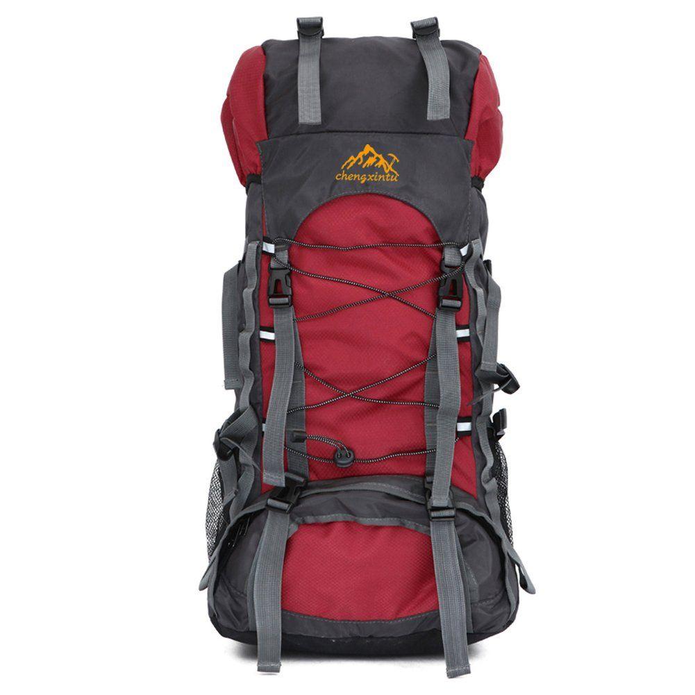 0389e194bd4f 55L Hiking Backpack, Holidayli Unisex Outdoor Sports Rucksack ...