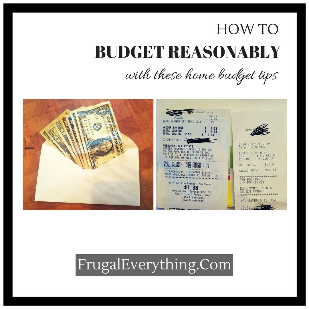 how to budget reasonably with these home budget tips pinterest