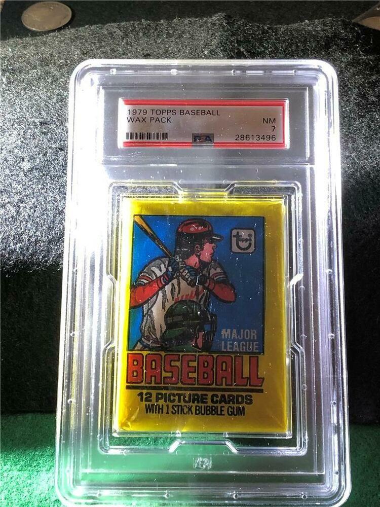 Unopened 1979 Topps Baseball Wax Pack Graded Near MInt (NM