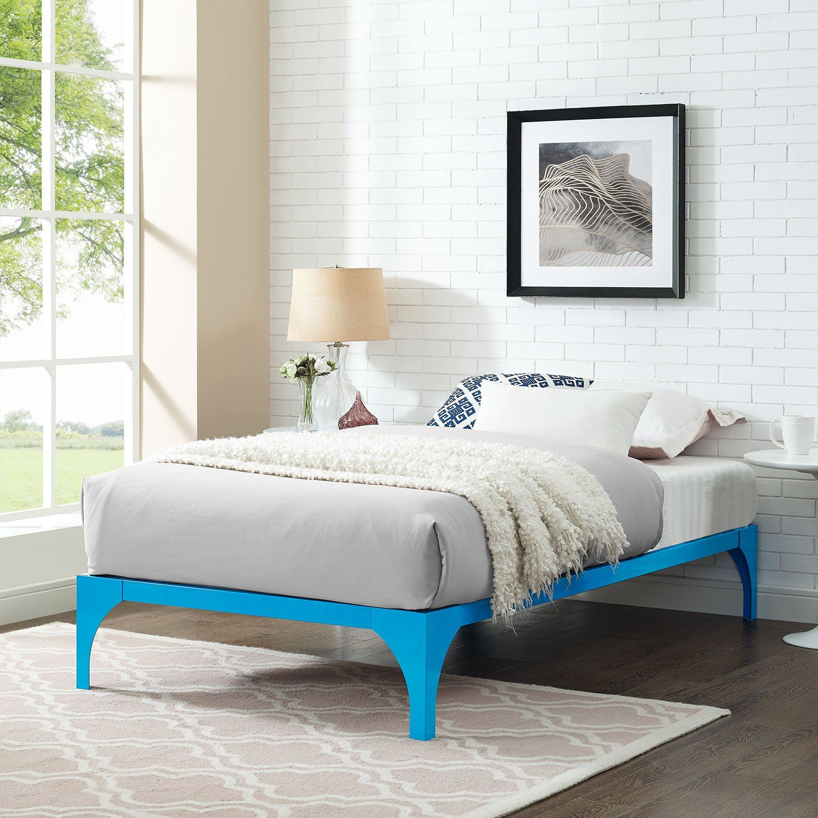Modway Furniture Modern Ollie Twin Bed Frame Mod 5430 Bed