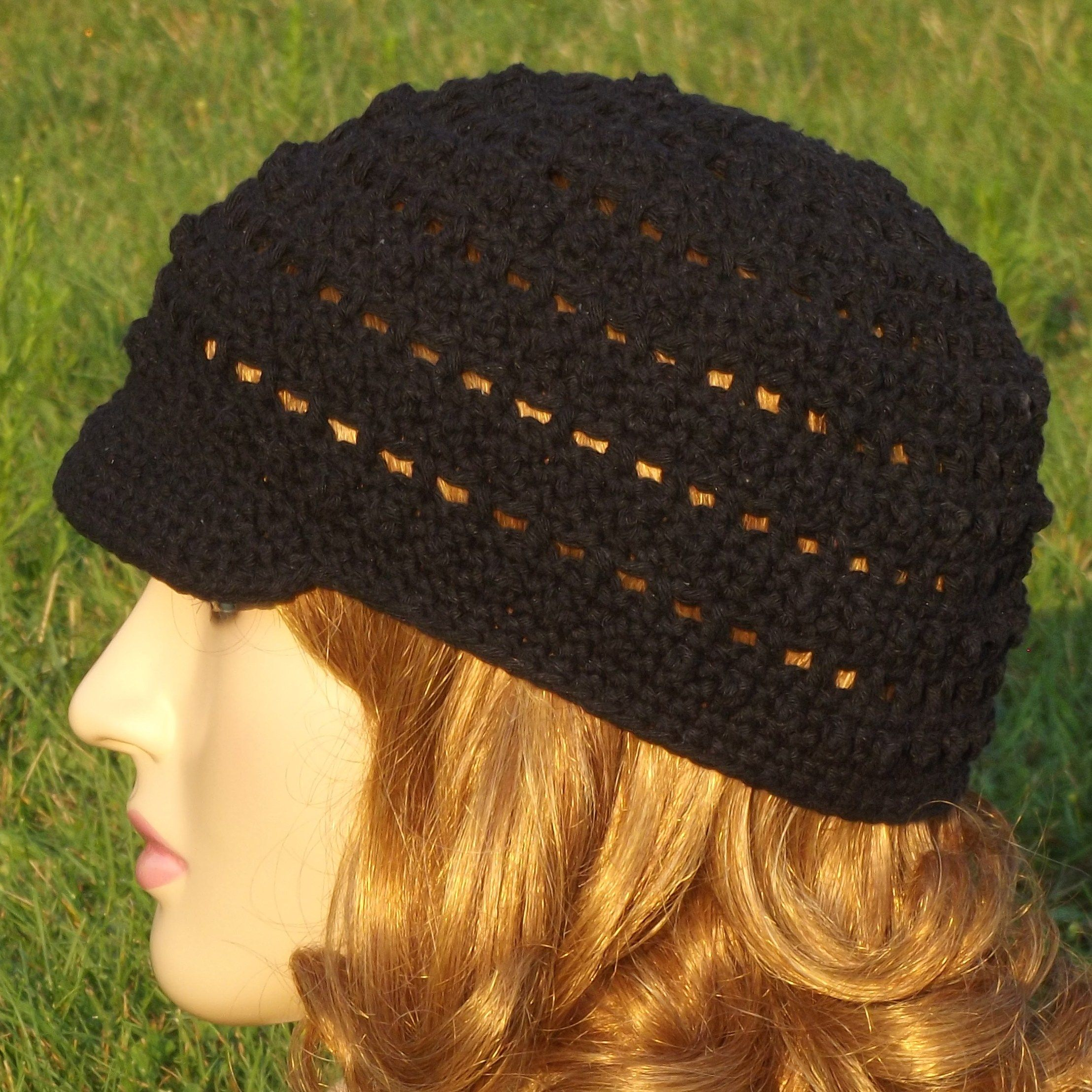 Free Crochet Pattern - Bead and Lace Hat | Crocheting and knitting ...