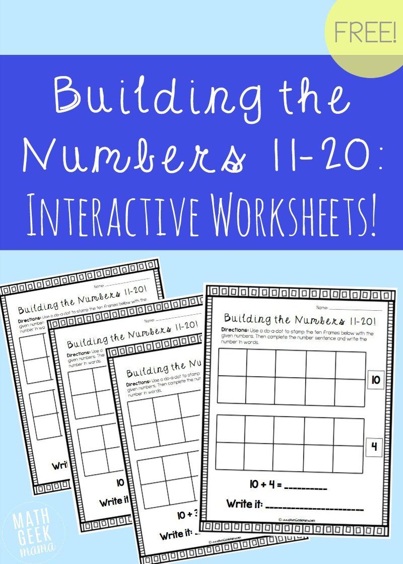 building the numbers 11 20 free printables math geek mama blog pinterest math. Black Bedroom Furniture Sets. Home Design Ideas