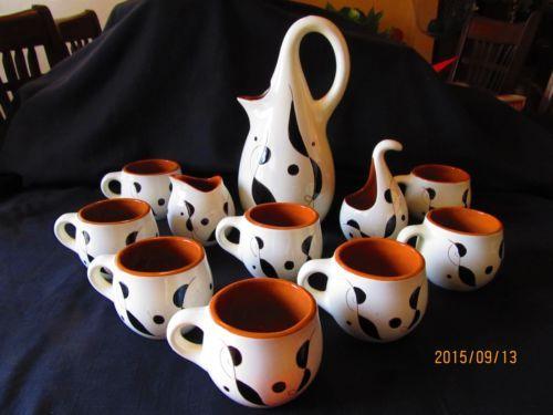 Vintage-Stangl-Pottery & Vintage Stangl Pottery Lyric Mid Century Carafe Set 11 pcs ...