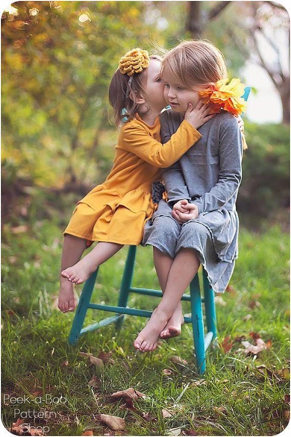Ashley Knit Ruffle Dress: Girls Knit Long Sleeved Dress PDF Pattern, Baby & Toddler Knit Dress Pattern via Etsy