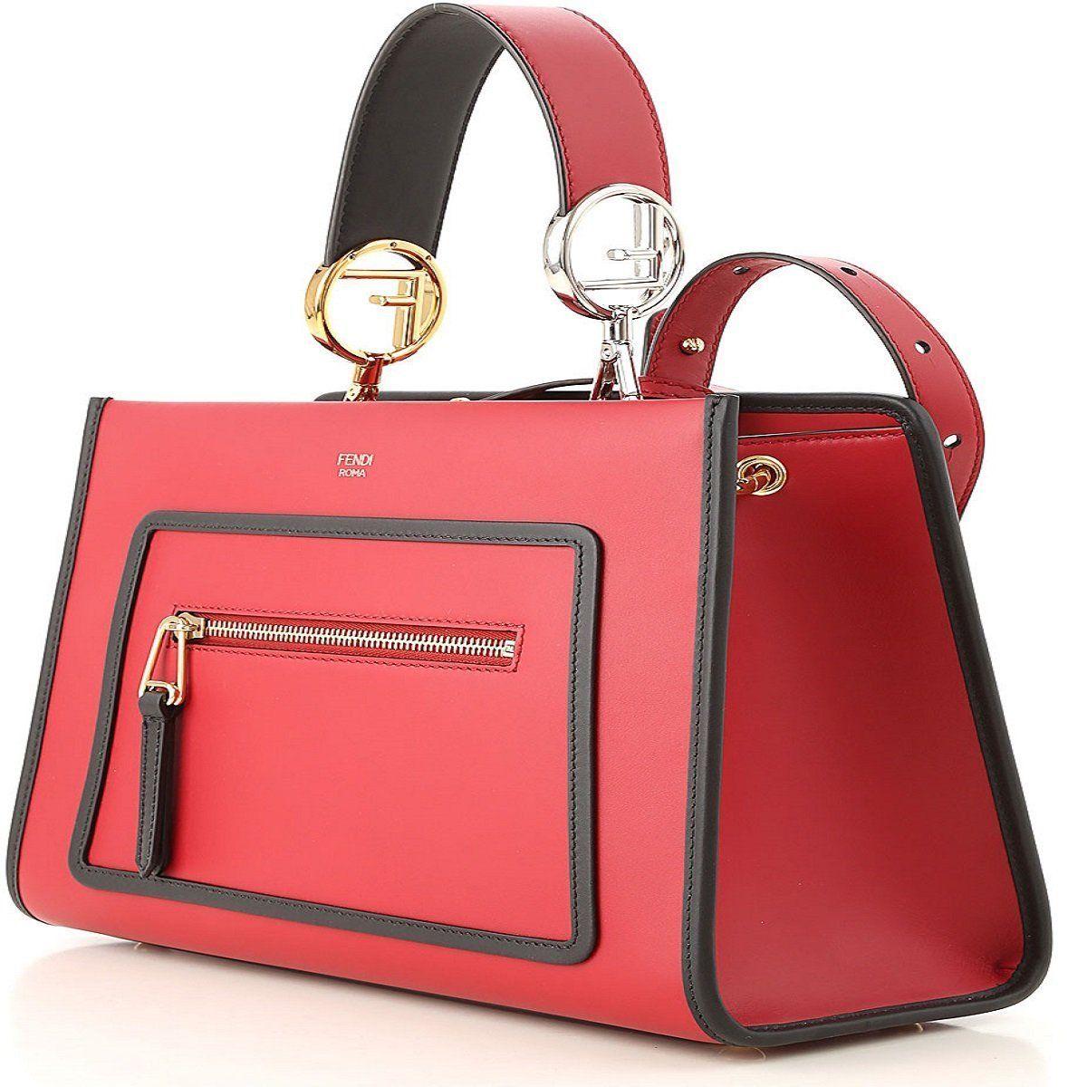 f19af0b32dc10f Fendi Red RUNAWAY Shoulder Hand-bag Calf Leather Shopping Tote 8BH344  #Fendi #TomFord #Luxury #QueenBeeofBeverlyHills #Handbags #Gucci  #DesignerHandbags ...