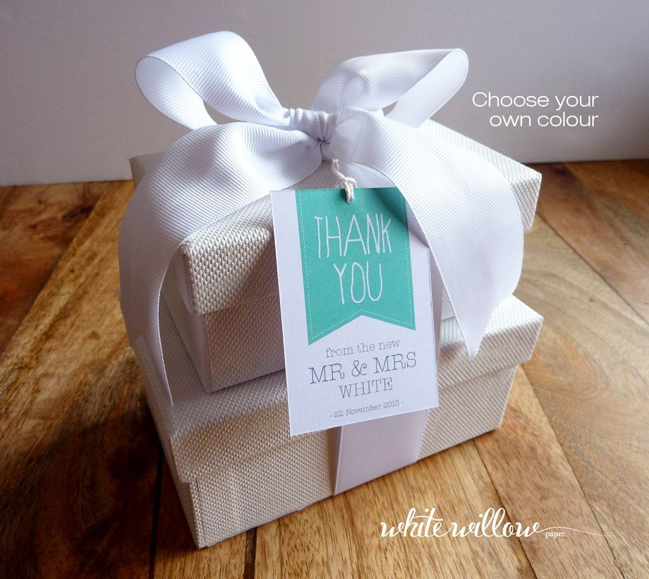 Personalised Wedding Thank You Gift Tags Custom Printable