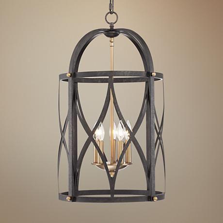 Torrison 5 Light 16 Wide Dark Bronze Foyer Chandelier 1f068