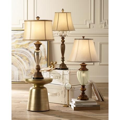 Kathy Ireland Hyde Park Nightlight Table Lamp 7y665 Lamps Plus Console Table Lamp Glass Table Lamp Lamp